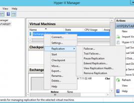 Hyper-V Replikasyon nasıl yönetilir ?